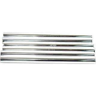 Plumb-Pak Radsnap Radiator Chrome Effect Pipe Sleeves 15mm x 202mm - Pack of 6