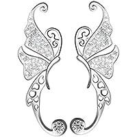 S&E Donna elegante Sterling Silver farfalla Orecchini Ballando Diamante orecchino del polsino - 925 Polsino Di Gioielleria