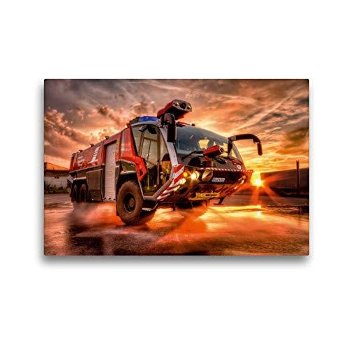 Premium Textil-Leinwand 45 x 30 cm Quer-Format Flugfeldlöschfahrzeug (FLF) | Wandbild, HD-Bild auf Keilrahmen, Fertigbild auf hochwertigem Vlies, Leinwanddruck von Markus Will