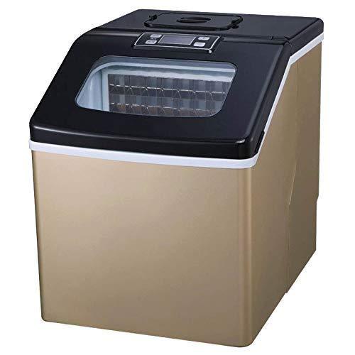 LMCLJJ Zähler Top Eismaschine Maschine tragbare kompakte elektrische hohe Effizienz Express Eismaschine Mini Cube 26lb EIS pro 24 Stunden mit Eisportionierer -
