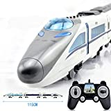 EMU-Zug Fernbedienung Auto RC Cartoon Train Toy mit Licht und Sound für Kids Toddlers Zug Set Modell Toy Gift 115CM