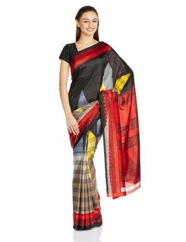 Satrang Saree with Blouse Piece (10243FMST_Black)