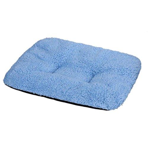 Cuccia per cane, Culater Cane letto per gatti Morbido Mat sonno caldo (31*37cm, Blu)