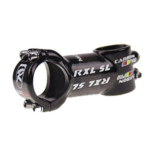 RXL SL Paquete Tallo de Carbono Vástago de Bicicleta de Carretera MTB de la Bicicleta Parte de Bicicleta 3K lustroso Negro (60mm) SL0666