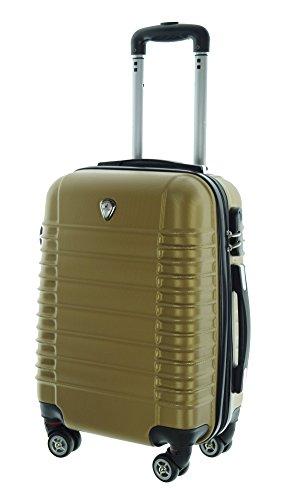 Couleur Doré Taille M Carbone/rigide Valise à roulettes en polycarbonate Case FA. Valise bowatex