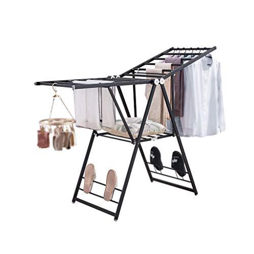 Hong xia shop Hochleistungswäschetrockner-Boden-faltender Innenschlafzimmerausgangsedelstahl kühler Aufhänger Faltbarer beständiger haltbarer Wäscheständer Glattes Starkes platzsparendes Design