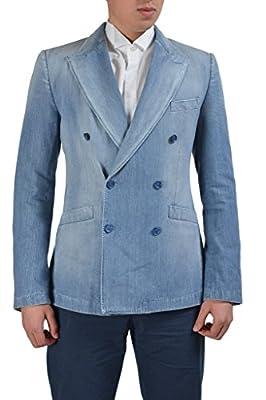 Dolce & Gabbana Blue Double Breasted Denim Men's Blazer