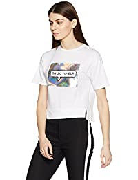 Symbol Amazon Brand Women's Boxy T-Shirt with 3D Print