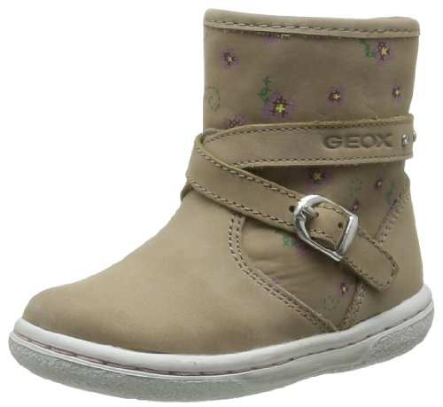 Geox Baby Girls' B Flick Girl L First Walking Shoes Beige Beige (Dk Beige) 21