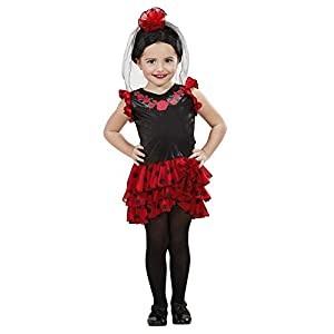 WIDMANN-Senorita 49939 - Disfraz infantil (104 cm/2 - 3 años), multicolor