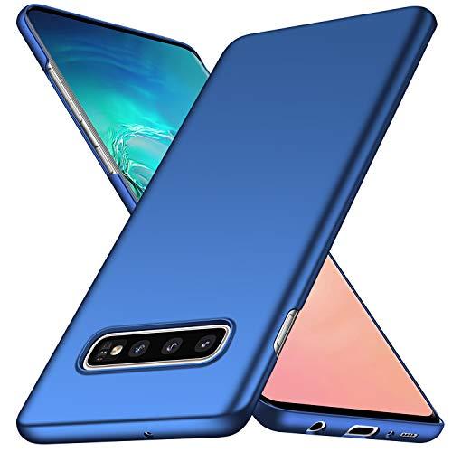 Arkour für Samsung Galaxy S10 Plus Hülle, Minimalistisch Ultradünne Leichte Slim Fit Handyhülle mit Glattes Matte Oberfläche Hard Case für Galaxy S10 Plus (2019) - Glattes Blau Slim Fit Hard Case