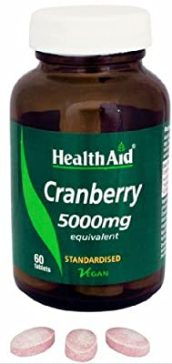 HealthAid Cranberry 5000mg - 60 Vegan Tablets by HealthAid