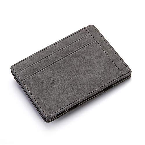 ZJBZJBB Ultradünne Mini Brieftasche Herren Kleine Brieftasche Business PU Leder Magie Brieftaschen Geldbörse Kredit (Magie Brieftasche)