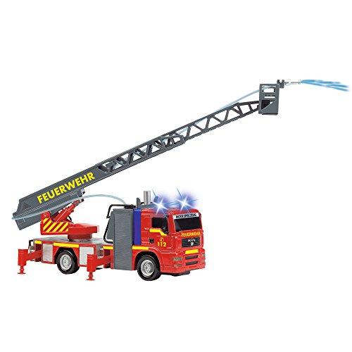 Dickie Toys 203715001 – City Fire Engine, Feuerwehrauto mit manueller Wasserspritze, 31 cm - 9
