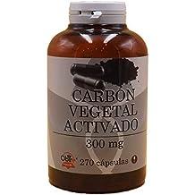 Carbon vegetal activado activo 300 mg Obire 270 capsulas mejora la disgestión, contra la acidez