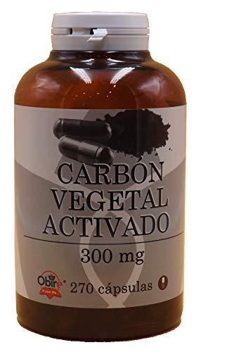 Carbon vegetal activado activo 300 mg Obire 270 capsulas mejora la disgestión, contra la...