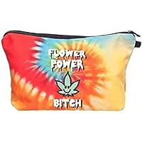 Beauty Case, borsa da viaggio, borsetta da toilette sacco sacchetto bagno per cosmetici trucco make up motivi diversi, Kosmetiktasche KT-002-050:KT-021 Flower Power Bitch