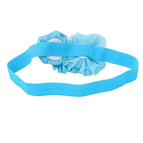 Bandeau Bébé Fille Accessoire de Photographie Bande Elastique de Cheveux Bleu