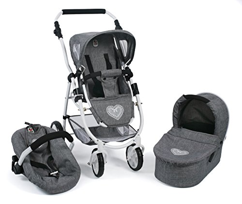 Bayer Chic 2000 637 76 COMBI Emotion All in, 3 in 1 Doll Stroller – Denim Grey 41PfH2gz 2ByL