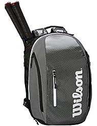 WILSON Sporting Goods Super Tour Rucksack, Schwarz/Grau