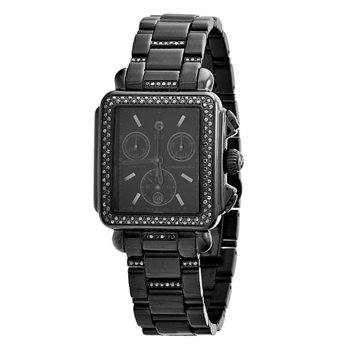 Michele Women's MWW06A000774 Deco Noir Diamond Bracelet Watch