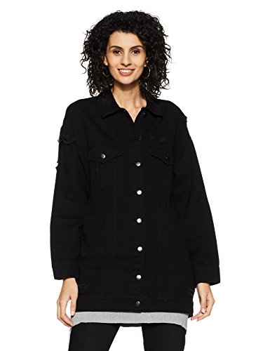 Forever 21 Women's Cotton Jacket (00230472064_0023047206_Black_4_)