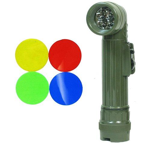Winkeltaschenlampe US LED Oliv (MED 17cm)