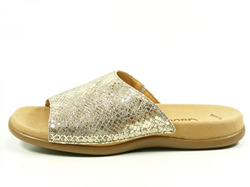 Gabor 63-705 Schuhe Damen Metallic Pantoletten Clogs Best Fitting Gold
