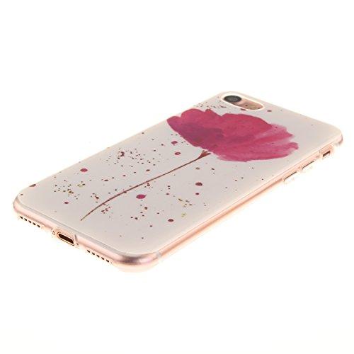 Guran® TPU Silikon Hülle für Apple iPhone 7 (4,7 Zoll) Smartphone Gemalt Schutzhülle Cover-Windspiele color a21
