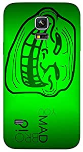 Timpax protective Armor Hard Bumper Back Case Cover. Multicolor printed on 3 Dimensional case with latest & finest graphic design art. Compatible with Samsung Galaxy S-5-Mini Design No : TDZ-26532