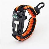 GLYSS Bracciale - Kit di attrezzi di sopravvivenza con bussola incorporata, dispositivo di avviamento al fuoco, attrezzatura per l'escursione di coltelli di emergenza - attrezzatura da campeggio, B