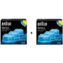 Braun-Lote de 6 recambios de líquido limpiador para sistema Clean Renew   -CCR3 083f129ac18b