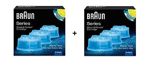 Braun–Pack 6Refill-Reinigungsflüssigkeit für System Clean & Renew–2x CCR3
