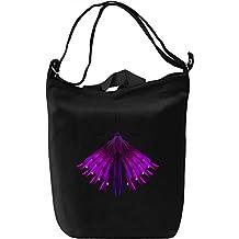 Mech Bug Neon Purple Bolsa de mano Día Canvas Day Bag| 100% Premium Cotton Canvas| DTG Printing|