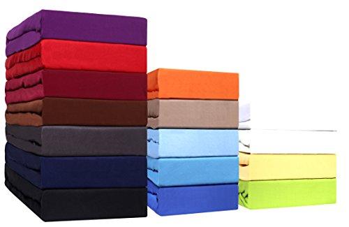 Sonderposten!! Mikrofaser SPANNBETTLAKEN zum Sparpreis! viele Größen und Farben Markenware (90x200 - 100x200 cm, terrakotta)