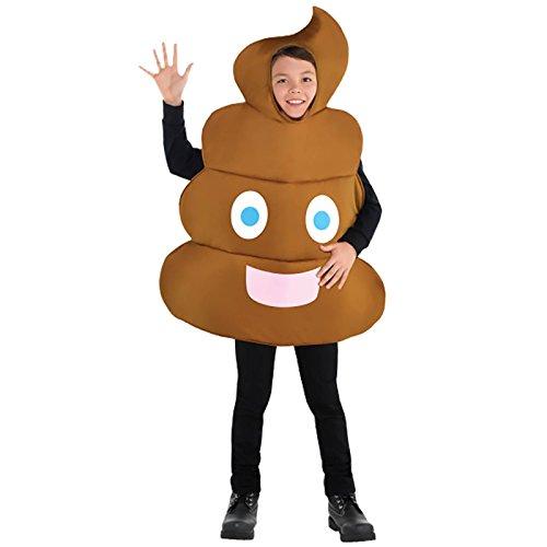 Emoji -Poop- Kinderkostüm (Kostüm Emoji)