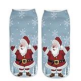 Felicove Unisex Holiday X-Mas Socken Weihnachtsmann Lustige Kurze Socken 3D Weihnachtsmann Socken