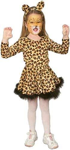 chen Kinder springende Bengalkatze Tier Dschungel Safari Welttag des buches-Tage-Woche Kostüm Kleid Outfit - Multi, 8-10 Years (140cm) ()