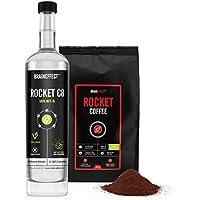 BRAINEFFECT ROCKET KIT | Bulletproof Set | 500ml C8 MCT Öl & 460g ROCKET COFFEE | Hochwertige Caprylsäure abgestimmt... - preisvergleich