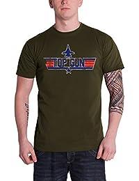 c5b7ab81d54c Top Gun Logo Official Mens New Green T Shirt