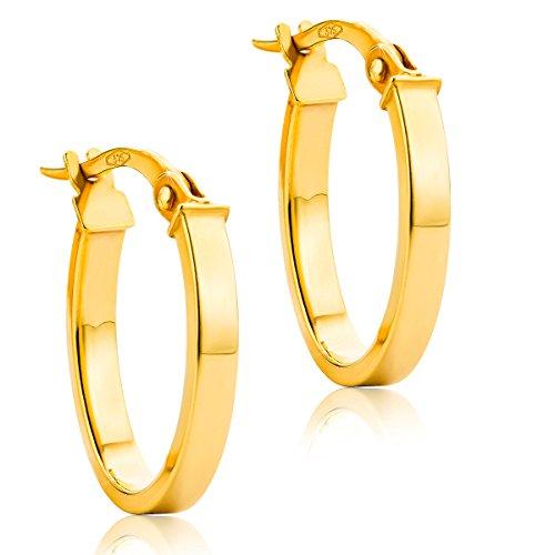 6b196b4258ab 10 - Orovi pendientes de mujer aros en oro amarillo 9 kilates ley 375 ·  Comprar en Amazon