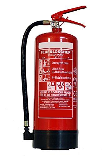 Feuerlöscher 6kg ABC Pulverlöscher DIN EN3 inkl. Andris Prüfnachweis &. ISO-Symbolschild