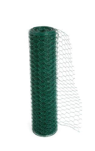 Treillis métallique soudé avec un revêtement en PVC pour poules ou lapin, disponible en trois largeurs (20 jauges) (600mmx25m) (535)