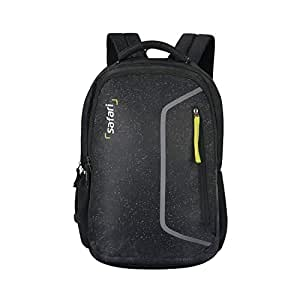 Safari 48.5 cms Black Laptop/Casual/School/College Backpack (SPECKLES19SBBLK)