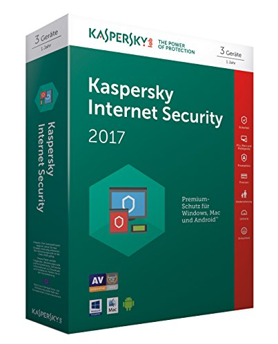 Kaspersky Internet Security 2017 | 3 Geräte | 1 Jahr | PC/Mac/Android | Download