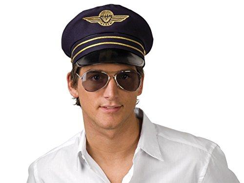 Alsino Fun Karnevalshut Doktor Matrosen Polizei Hut Herren Faschingshut Damen Partyhut, wählen:Flugkapitän blau 01209