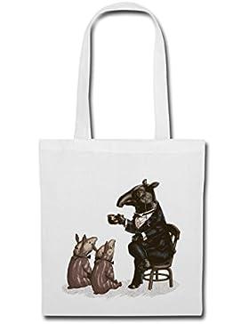 Tiere Tapir Im Anzug Erzählt Märchen Stoffbeutel von Spreadshirt®