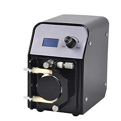 MUJING Pompe péristaltique (Pompe de réacteur de Calcium d'aquarium, 3.2mm6.4mm, 6 Rouleaux)