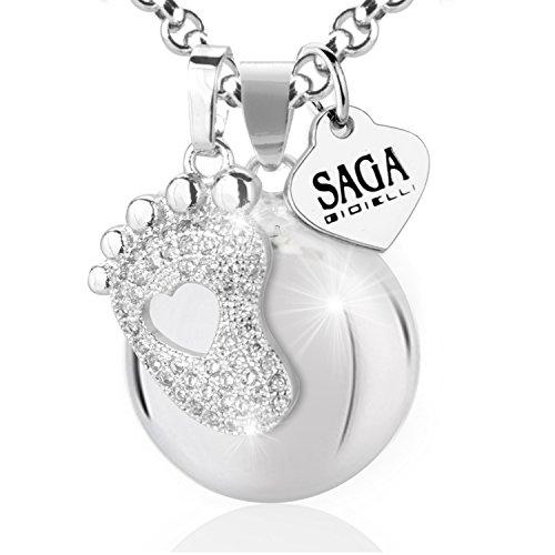 Saga gioielli collana chiama angeli bola messicana charm piedino cristalli