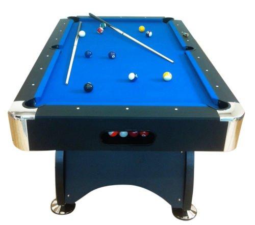 Billardtisch Pool Billard Tisch blau mit Zubehör robust 145 kg 7 ft (7 Pool-tisch)